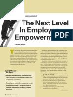 El Siguiente Nivel en El Empowerment de Empleados