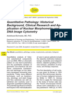 Quantitative Pathology- Historical Background, Clinical Research and AP- Plication of Nuclear Morphometry and DNA Image Cytometry