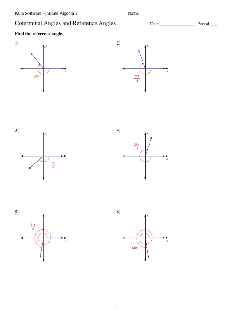 Reference Angle Worksheet Switchconf