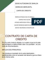 Contrato de Carta de Credito