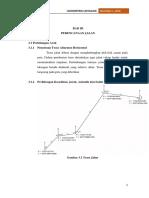 Perhitungan Geometrik Lintasan (Alinyemen Horizontal dan Vertikal)