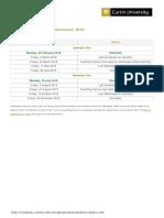 Curtin Academic Calendar 2018