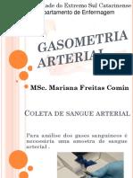Coleta de Sangue Arterial-gasometria