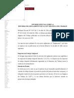 Informe Reglamento de LT