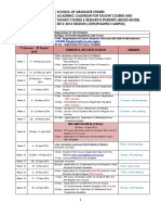 Academic Calendar for Taught Course and Mixed Mode 201320142