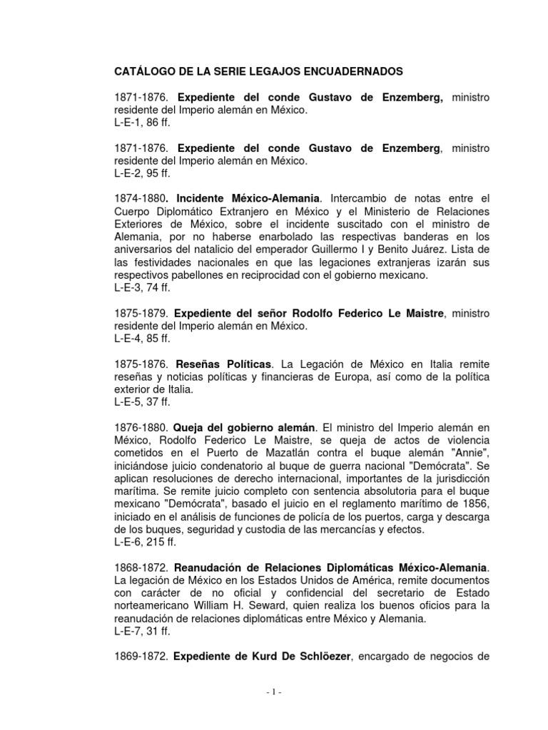 Catálogo de La Serie Legajo Encuadernado
