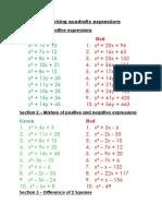 56 - Quadratics and Brackets