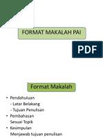 Format Makalah