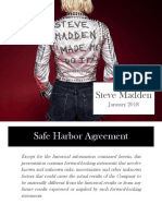 SHOO Steve Madden ICR Jan 2018 investor presentation slide deck ppt pdf