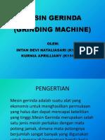 Mesin Gerinda (Grinding Machine)