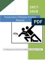 Ultimate Frisbee Manual 2017 2018