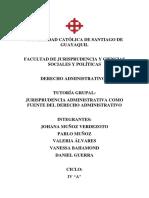 JURISPRUDENCIA ADMINISTRATIVA COMO FUENTE DEL DERECHO ADMINISTRATIVO