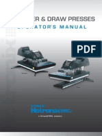 Hotronix Draw Press Operators Manual