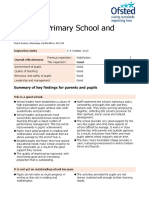Ofsted Inspection Report - October 2012