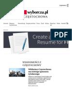 Wiadomości z Częstochowy - Częstochowa