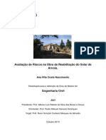 Avaliação de Riscos Na Obra de Reabilitação Do Solar de Arnóia