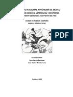 Manual de Practicas de Clinica de Aves de Compania