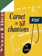 Le Cahier de Chansons Yvon