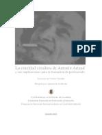 La Crueldad Creadora de Antonin Artaud y Sus Implicaciones Para La Formación Del Profesorado - C. Carrilho