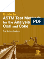 Guide to Astm Test Methods for the Analysis of Coal and Coke