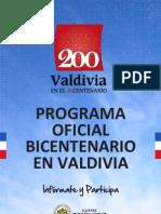 PROGRAMA BICENTENARIO EN VALDIVIA