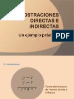 Unidad I Demostraciones Directas e Indirectas