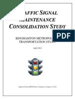 FINAL Traffic Signal Maintenance Consolidation Study