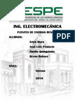 Informe Renovables Bateria