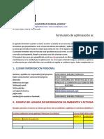 FOM Formulario de Optimización Acústica Acustiflex
