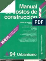 Manual de costos de construcción