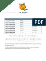 Sunshine Site Design Rate Schedule