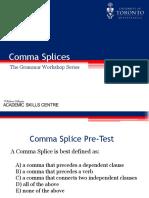 Comma Splices BI Revision
