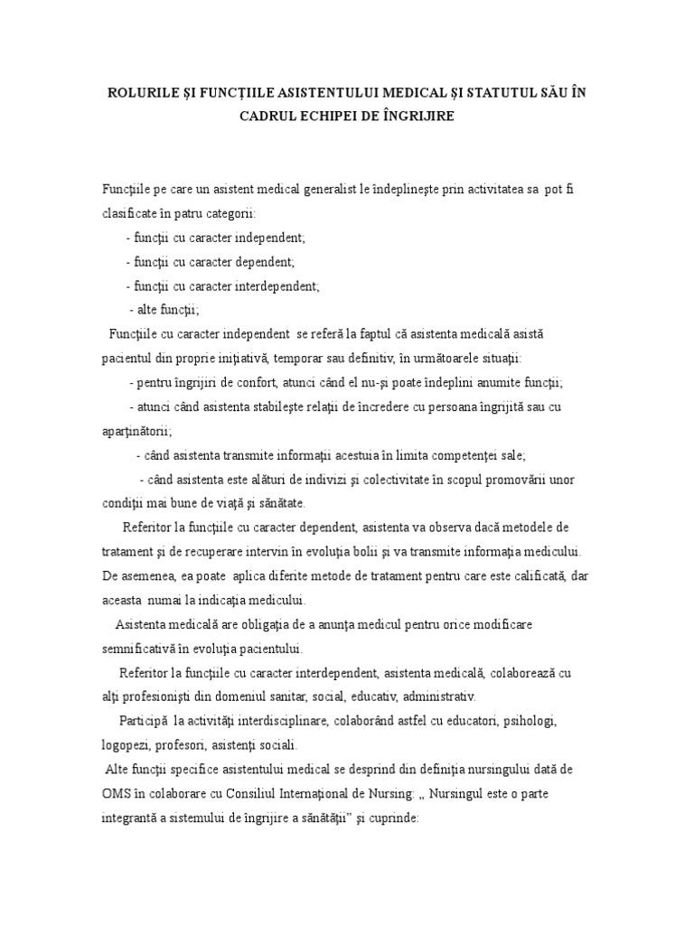 rolul profesional al moașelor în varicoză)