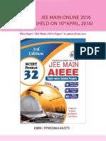 Disha Publication Jee-main Online-10-April 2016 Solved-paper. V526057697