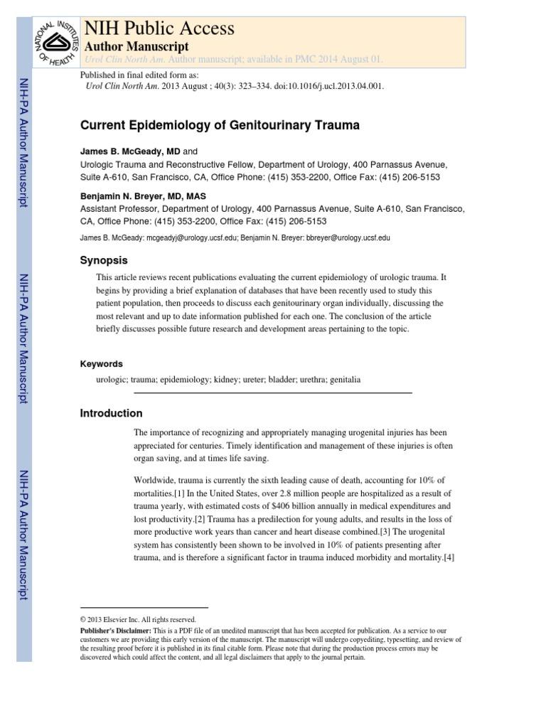 Ni Hms 473894 | Urinary Incontinence | Major Trauma