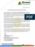 Letter of Recommendation for Md Abdullah Al Masud