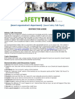 Ski Safety-Talk Template