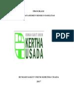 Program Manajemen Resiko Fasilitas 2017