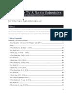 Philippine TV & Radio Schedules 2018 Edition