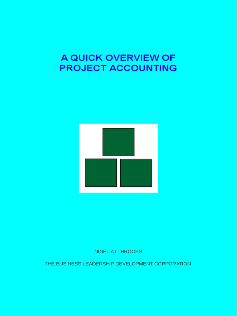 a quick overview of project accounting