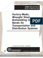 Factory Made Wrought Steel Butt Welding Induction Bends for Transportation and Distribution Systems