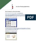 SSL on-Line Pricing Instruction Manual