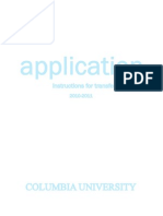 Columbia Suppliments and Instruction for Transfer