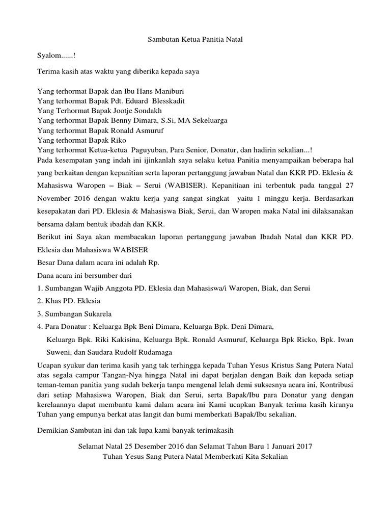 20 Ide Contoh Laporan Pertanggungjawaban Panitia Natal Gereja Zee Blog S