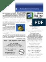 O2 Living September Newsletter 2010