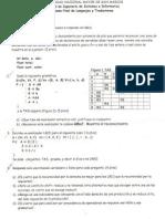 Examen Final Lenguajes y Traductores Prof. Melo FISI UNMSM