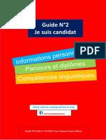 2 Guide Campus France Maroc 2017-2018 - Je Crée Mon Compte Et Je Saisis Mes Informations Personnelles