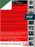Manifesto Ricordo - Piattaforma comunista