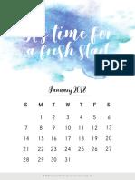 Monthly Printable Calendar 2018 (1)