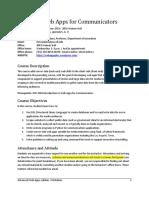 JOU 4364 Sec 2F03 Advanced Web Apps McAdams s2018